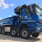 craneloader-with bucket-marchesigru-workingin-dutchmarket